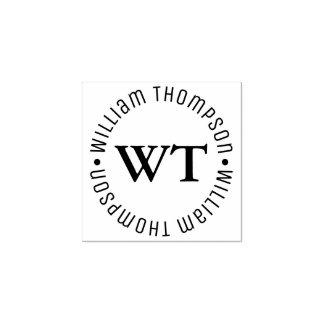 monogramme de logo de cercle (nom et initiales)