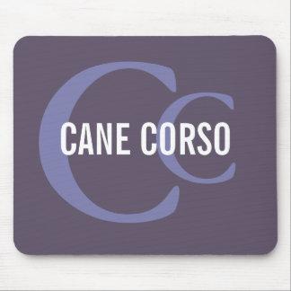 Monogramme de race de Corso de canne Tapis De Souris