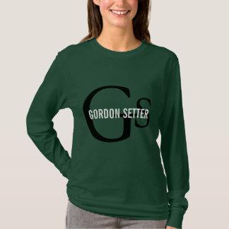 Monogramme de race de poseur de Gordon T-shirt