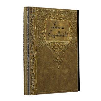 Monogramme de style de vieux livre de la Calabre Coque Folio iPad