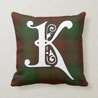 Monogramme de tartan de clan de Kerr Coussin Décoratif