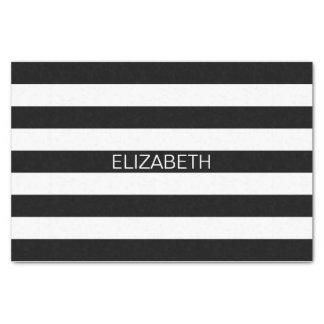 Monogramme de très bon goût horizontal blanc noir papier mousseline