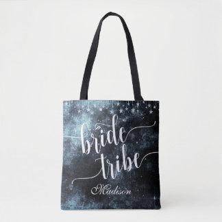 Monogramme de tribu de jeune mariée de nuit tote bag
