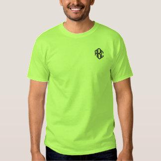 Monogramme de vert de chaux de la chemise des