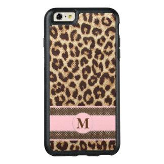 Monogramme d'empreinte de léopard coque OtterBox iPhone 6 et 6s plus