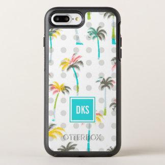 Monogramme des palmiers | d'aquarelle coque otterbox symmetry pour iPhone 7 plus