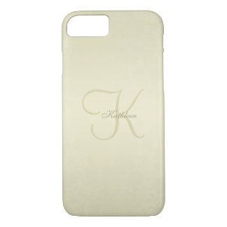 Monogramme d'or coque iPhone 7