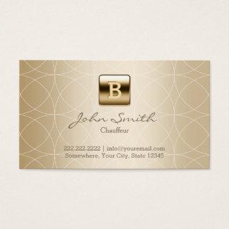Monogramme d'or de chauffeur géométrique cartes de visite