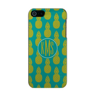 Monogramme du fruit tropical | d'ananas coque iPhone 5 incipio feather® shine