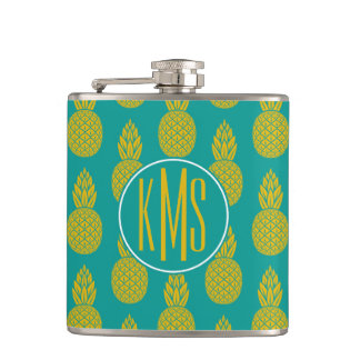 Monogramme du fruit tropical | d'ananas flasques