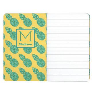 Monogramme du motif | d'ananas carnet de poche