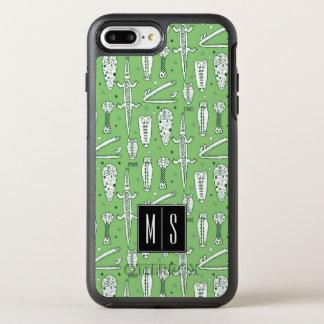 Monogramme du motif | de crocodile de croquis coque otterbox symmetry pour iPhone 7 plus