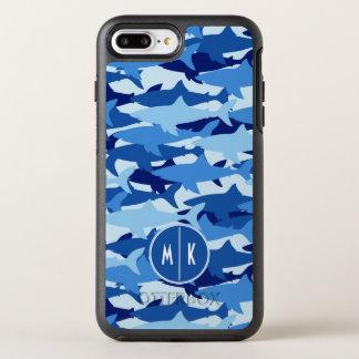 Monogramme du motif | de requin bleu coque otterbox symmetry pour iPhone 7 plus