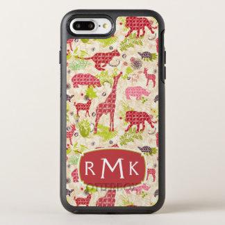 Monogramme du paradis | de jungle coque otterbox symmetry pour iPhone 7 plus