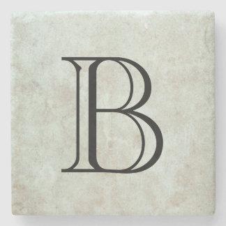 Monogramme élégant dessous-de-verre en pierre