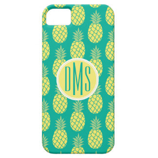 Monogramme en pastel des ananas | coque Case-Mate iPhone 5