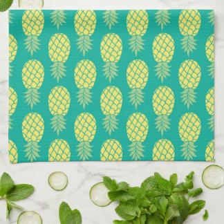 Monogramme en pastel des ananas   serviette pour les mains