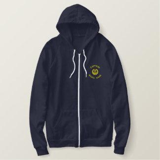 Monogramme et ancre personnalisés de capitaine de sweatshirt avec capuche