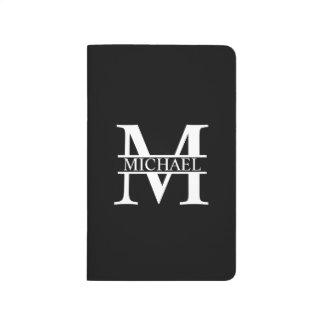 Monogramme et nom personnalisés carnet de poche