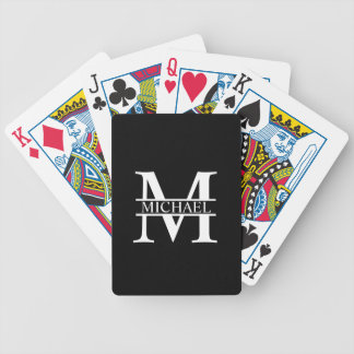 Monogramme et nom personnalisés jeu de cartes