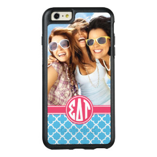 Monogramme et photo de Tau | de delta de sigma Coque OtterBox iPhone 6 Et 6s Plus