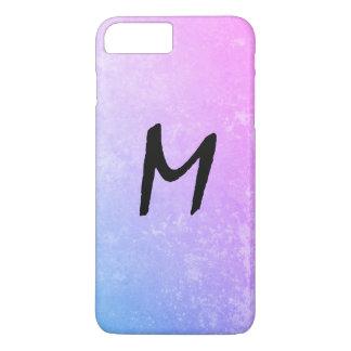 Monogramme expressif avec la texture sale coque iPhone 7 plus