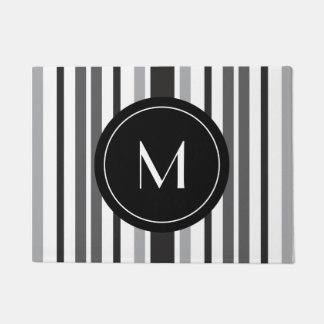 Monogramme fait sur commande blanc noir gris de paillasson
