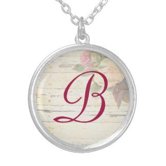 Monogramme fait sur commande chic minable de roses bijouterie