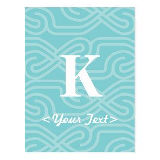 Monogramme fleuri de Knotwork - lettre K Carte Postale