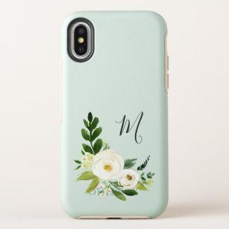 Monogramme floral d'albâtre