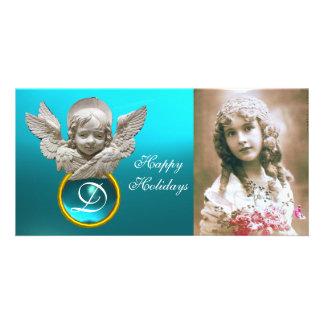 Monogramme FLORENTIN de gemme de Tuquase d'ANGE de Cartes De Vœux Avec Photo