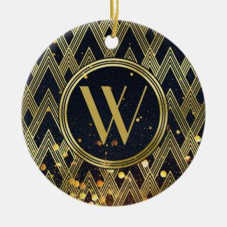 Monogramme géométrique fascinant de motif d'art ornement rond en céramique
