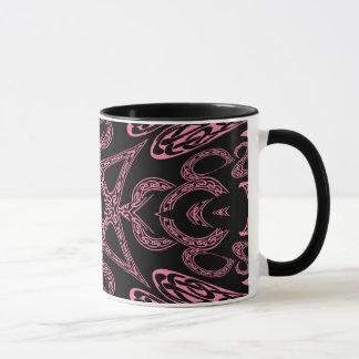 Monogramme gothique K de mystère rose Mugs