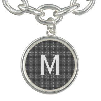 Monogramme gris de flanelle bracelet