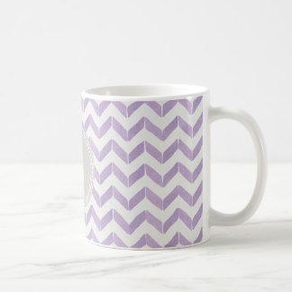 Monogramme gris pourpre en pastel chic de coutume mug