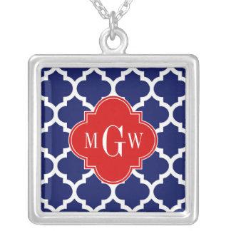 Monogramme initial du rouge 3 blancs du Marocain Pendentifs