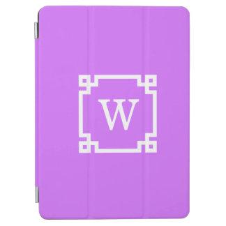 Monogramme initial principal grec blanc lilas du protection iPad air
