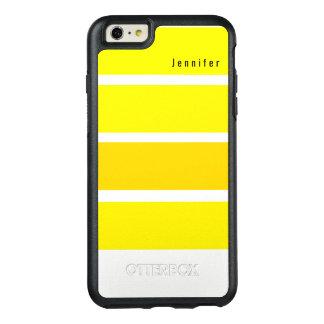 Monogramme jaune de tonalités lumineuses de citron coque OtterBox iPhone 6 et 6s plus