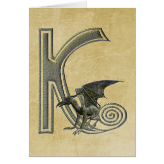 Monogramme K de gargouille Carte De Vœux