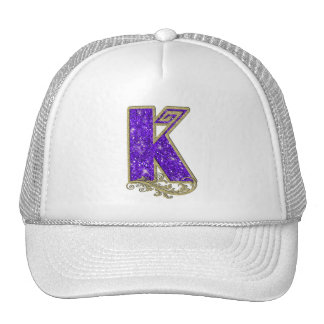 Monogramme K pourpre Casquettes