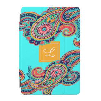 Monogramme lumineux de Paisley d'Aqua Protection iPad Mini
