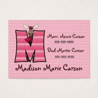 Monogramme M de cartes d'informations en cas