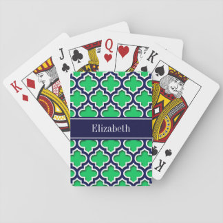 Monogramme marocain de nom de marine de la marine jeu de cartes