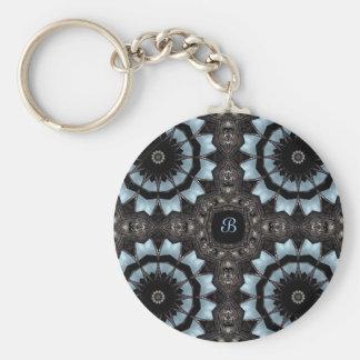 Monogramme médiéval gothique B de kaléidoscope Porte-clés