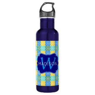 Monogramme méditerranéen de tuiles de mode à la bouteille d'eau en acier inoxydable