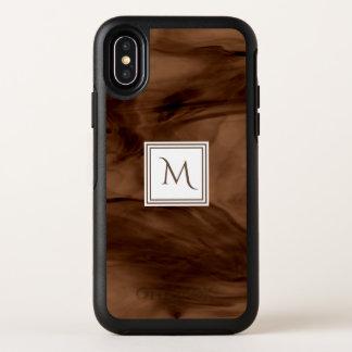 Monogramme moderne de marbre subtil foncé simple