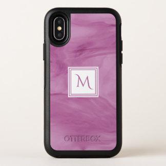 Monogramme moderne de marbre subtil mauve-clair