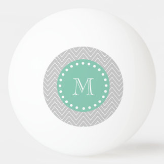 Monogramme moderne vert gris et en bon état de balle tennis de table