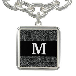 Monogramme/motif/moderne élégants bracelets