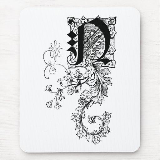 Monogramme n avec la feuille d 39 acanthe tapis de souris - Feuille d acanthe ...